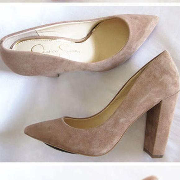 2e86c34cf7 Jessica Simpson Shoes - Jessica Simpson Tanysha block-heel pumps
